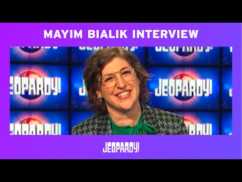 Mayim Bialik: Jeopardy! Guest Host Exclusive Interview | JEOPARDY!
