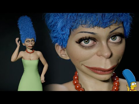 3D Model of Marge Simpson(Real time)