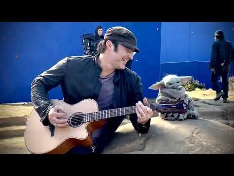 Watch Baby Yoda Jam With Director Robert Rodriguez on Mandalorian Set