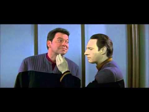 Shaving Test, Commander Data & Commander Riker, Star Trek Insurrection