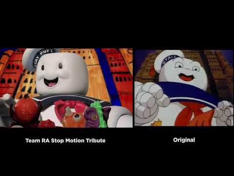 The Real Ghostbusters Intro vs Stop Motion Tribute Afterlife
