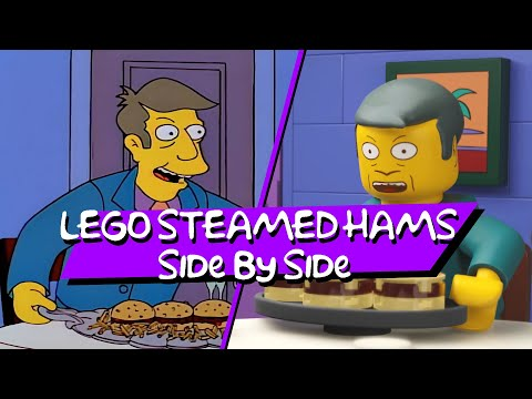 LEGO Steamed Hams - Side By Side Comparison