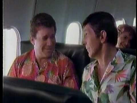 William Shatner & Leonard Nimoy for Western Airlines 1985