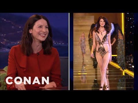 Caitriona Balfe Was The Whitest Victoria's Secret Model | CONAN on TBS
