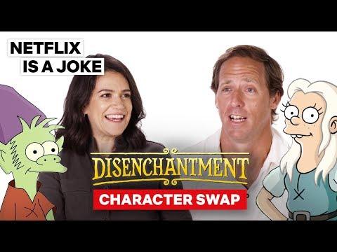 Abbi Jacobson & Nat Faxon Voice Each Other's Characters | Disenchantment | Netflix Is A Joke