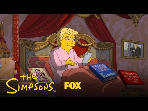 Donald Trump's First 100 Days In Office   Season 28   THE SIMPSONS