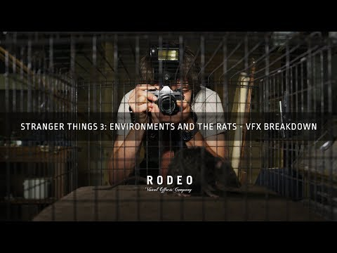 Stranger Things 3 : Environments & the Rats   VFX Breakdown by Rodeo FX