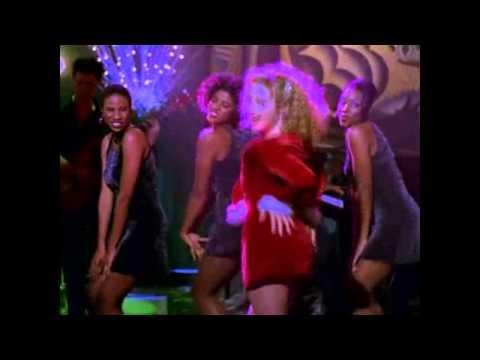 "Ally McBeal version of ""i saw mommy kissing santa claus"""
