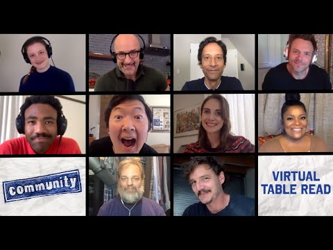 The Cast of Community Reunites for Table Read #stayhome #withme