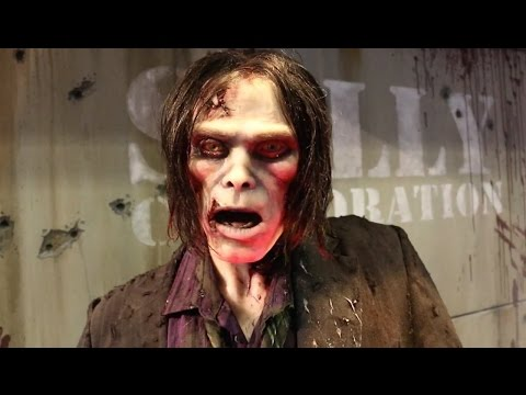 The Walking Dead ride animatronic & preview from Sally at IAAPA 2015