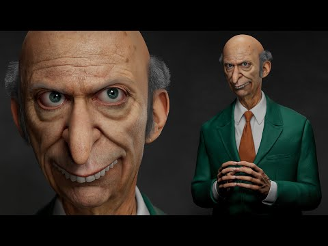 3D Model of Mr. Burns(Real time)