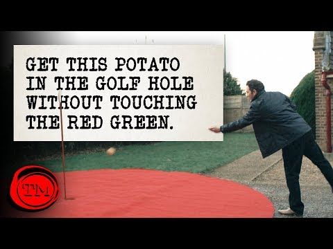 Get This Potato In The Golf Hole Without Touching The Green - FULL TASK