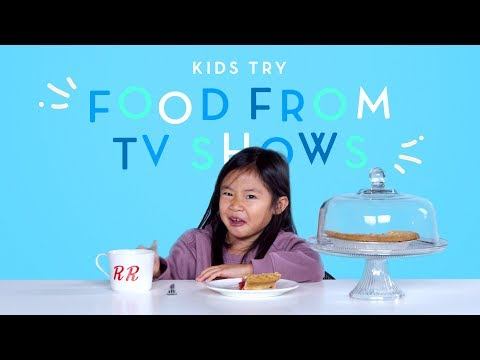 Kids Try Food From Classic TV Shows (Spongebob, Friends) | Kids Try | HiHo