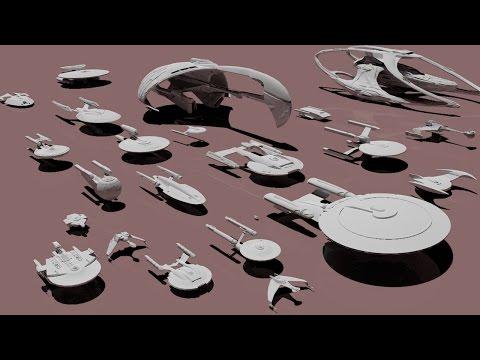 Star Trek STARSHIPS dimensions - 3D