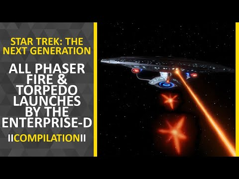 Compilation | Star Trek TNG - All phaser fire & torpedo launches by the Enterprise-D [UPDATED]