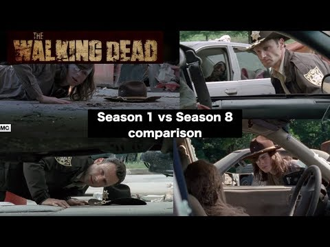 The Walking Dead - Season 1 vs Season 8 Scene Comparison (Rick & Carl)