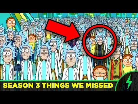 Rick and Morty - 20 MISSED JOKES - FULL SEASON 3 BREAKDOWN