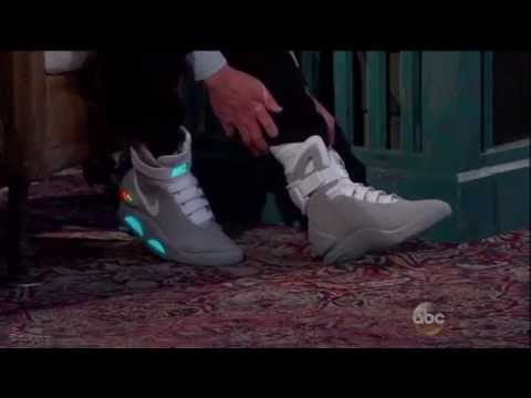 Michael J. Fox Shows Off New Power Laced Nike Mags On Jimmy Kimmel Live
