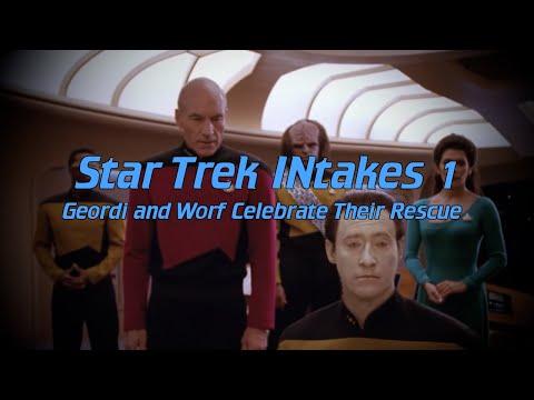Star Trek INtakes: Geordi and Worf Celebrate Their Rescue