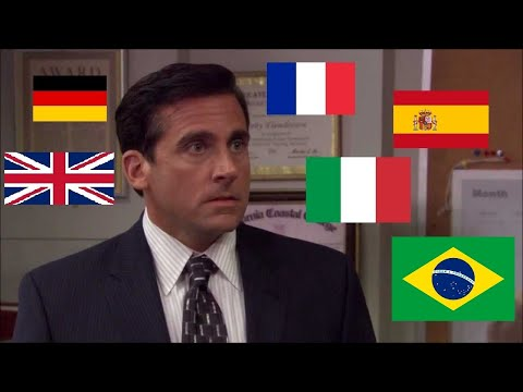 """The Office """"NO GOD PLEASE NO"""" in different languages"""