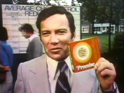 William Shatner for Promise Margarine 1974 TV commercial