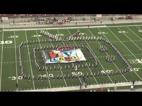 """Ohio State Marching Band """"TV Land"""" - Halftime vs. Virginia Tech: 9-6-14"""