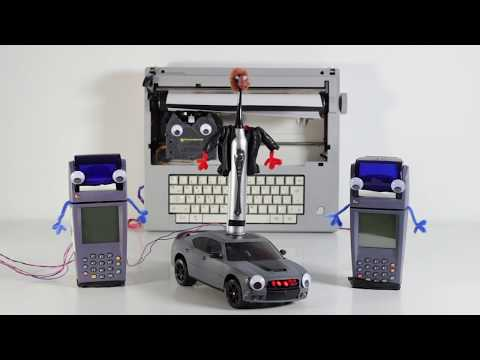 Knight Rider Theme on an Electric Toothbrush, Card Machines and a Typewriter