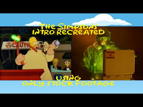 The Simpsons intro recreated using ONLY stock footage.