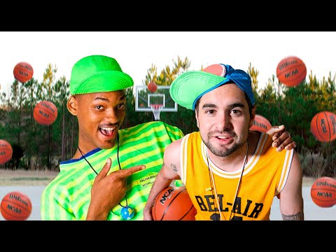 Fresh Prince theme song but only using basketballs