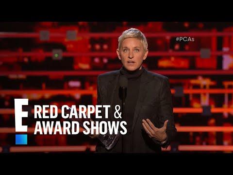 Ellen DeGeneres shares a shirtless Hemsworth pic | E! People's Choice Awards
