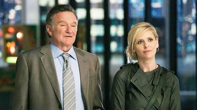 Robin Williams & Sarah Michelle Gellar in The Crazy Ones