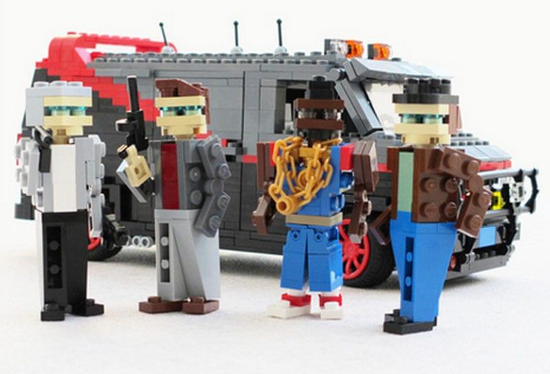 Serien- und Filmautos aus LEGO-Steinen