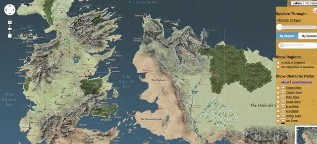 Karte Game Of Thrones Deutsch