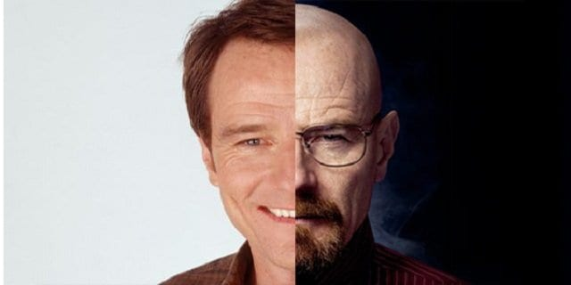 the psychology of becoming walter white Being older and more intelligent then jesse, walt deems himself the leader of the partnership, treating jesse like a child and critiquing him every opportunity that arises discussion at first glance, walter white looks like an average fifty-year-old man, but upon looking further into his personality it is apparent that he is much more.