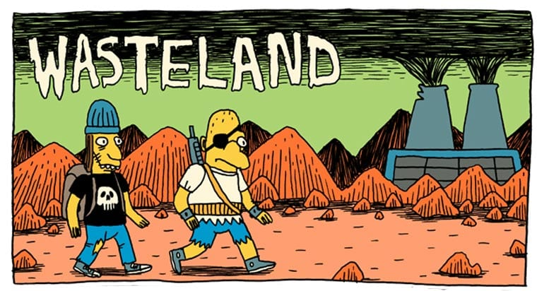 Postapokalyptischer Simpsons-Comic: Wasteland