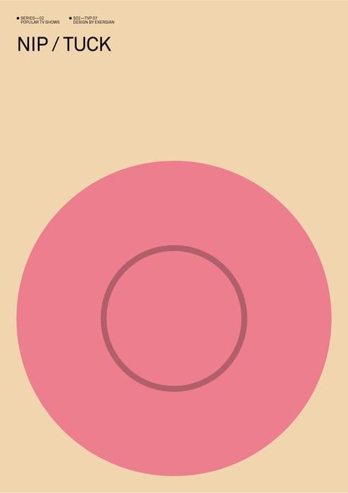 Nip/Tuck Minimalist Poster
