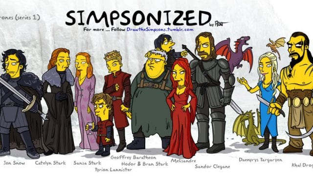"Die Charaktere von ""Game Of Thrones"" simpsonized"