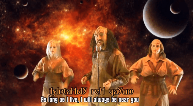 Never Gonna Give You Up auf Klingonisch