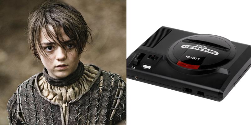 arya-genesis Game of Thrones Charaktere als Spielekonsolen