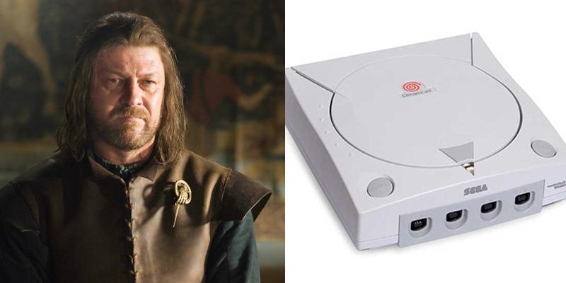 eddard-dreamcast Game of Thrones Charaktere als Spielekonsolen