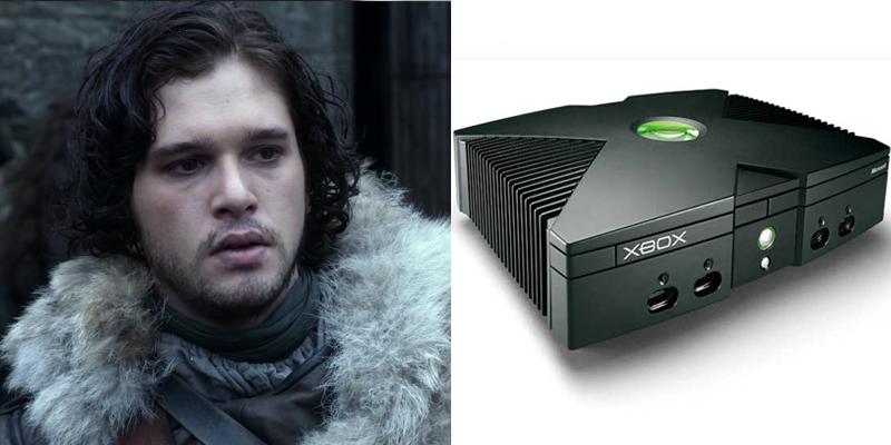 jon-xbox Game of Thrones Charaktere als Spielekonsolen