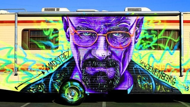 RV mit Heisenberg-Grafitti