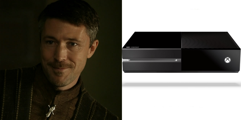 petyr-xboxone Game of Thrones Charaktere als Spielekonsolen