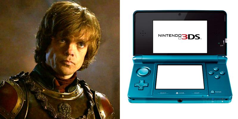 tyrion-3ds Game of Thrones Charaktere als Spielekonsolen