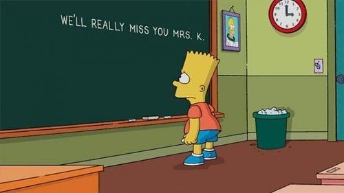 Die Simpsons verabschieden sich von Mrs. K
