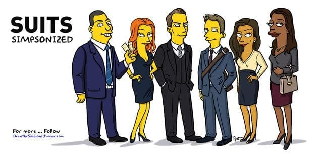 Simpsonized Suits-Charaktere