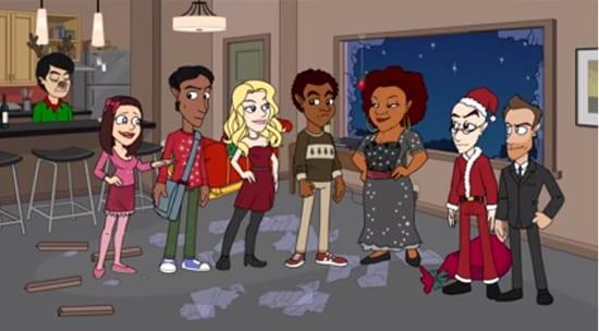 Animierte Weihnachtspromo für den Staffelstart von Community