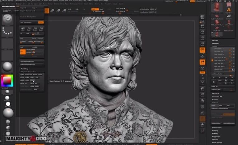 3D-Charakterskulpturen im Computer