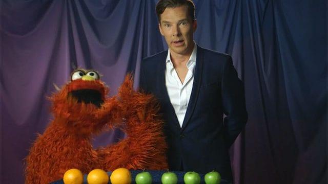 Benedict Cumberbatch in der Sesamstraße