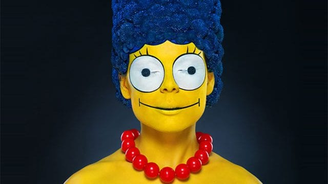 Marge Simpsons in echt